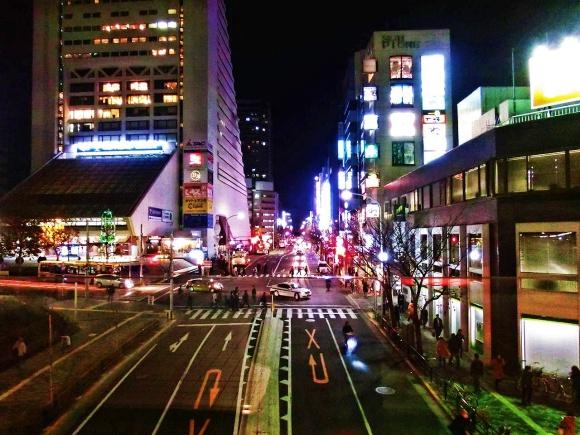 中野駅前・夜