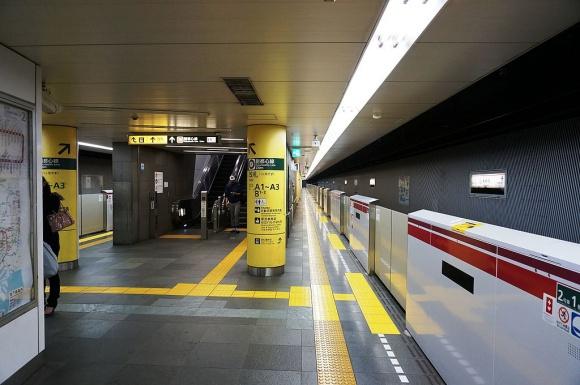 新宿駅ホーム@大江戸線