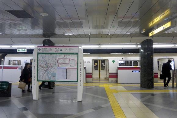 森下駅ホーム