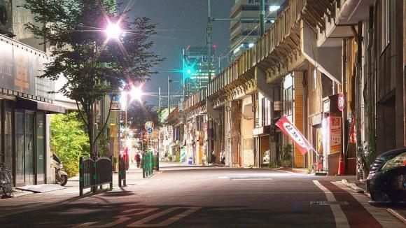 浅草橋駅・夜